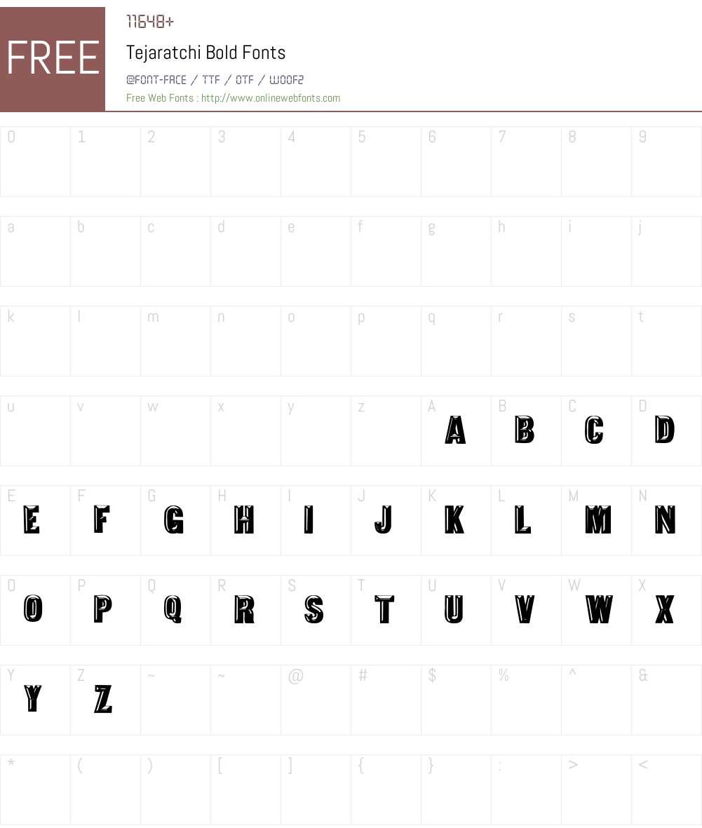 Tejaratchi bold Font Screenshots
