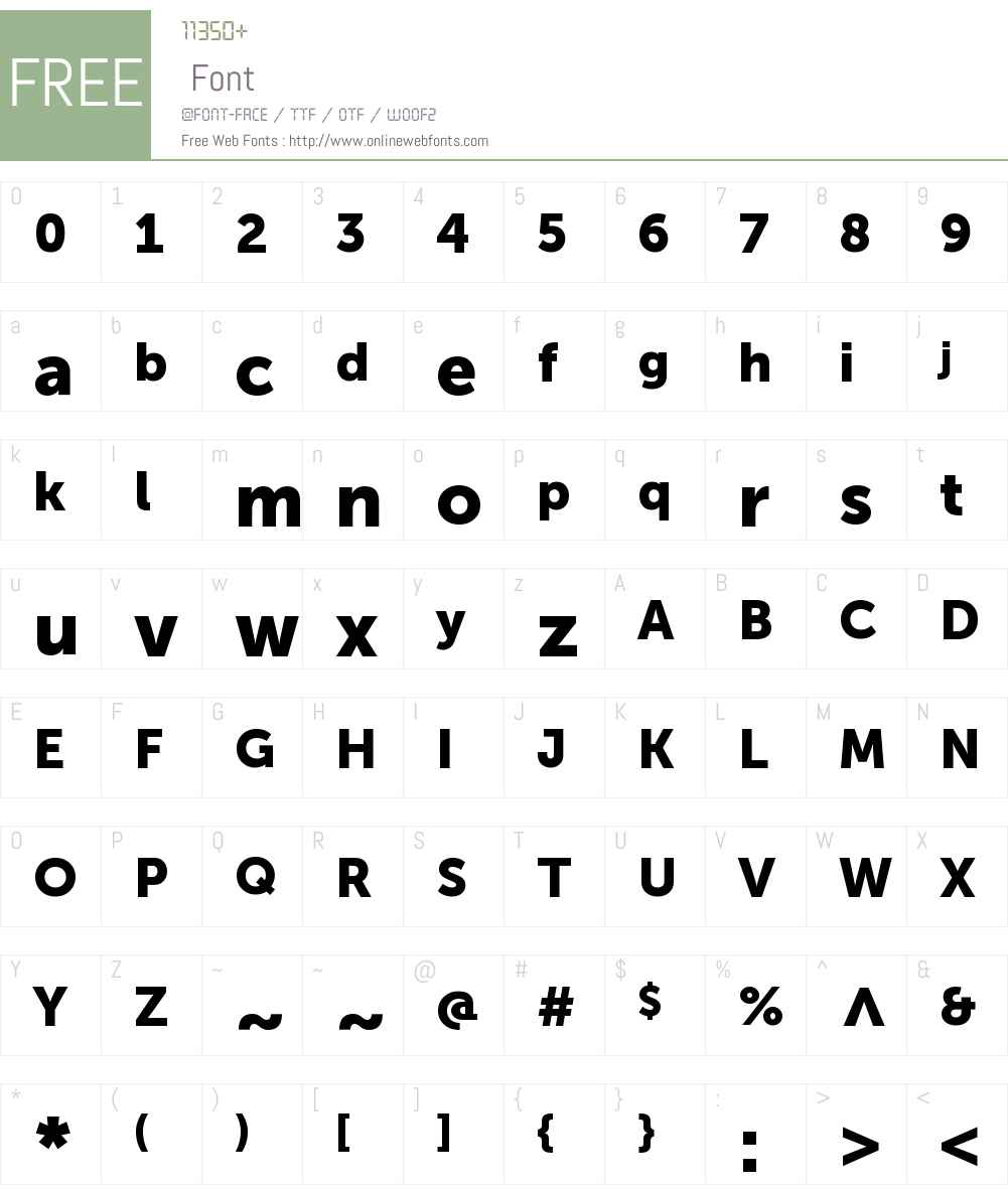 Museo Sans Cyrl 900 Font Screenshots