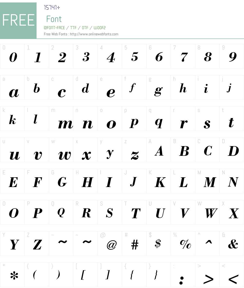 BodoniICG Font Screenshots