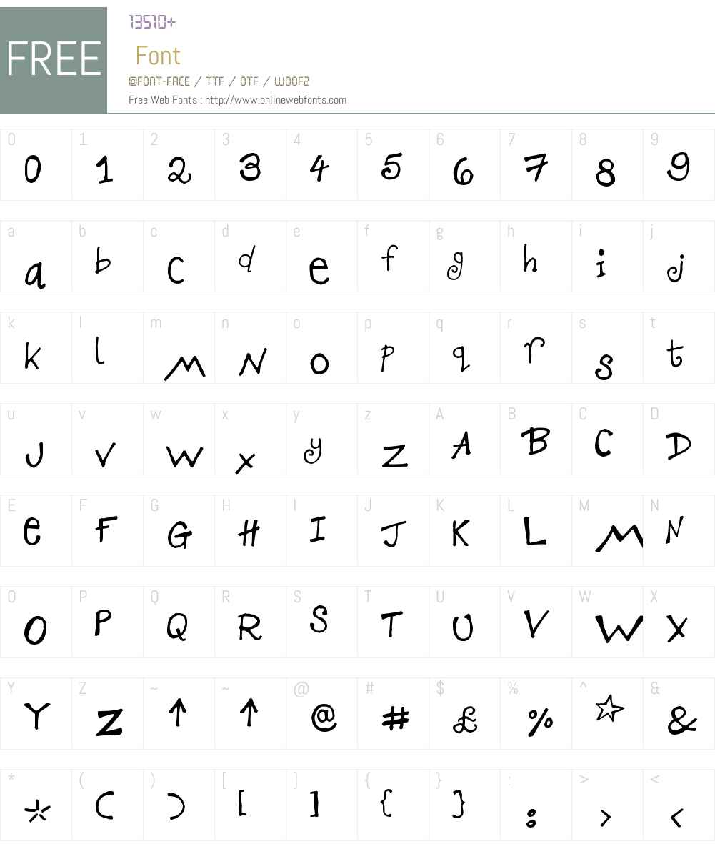KGD Creative Scribbles Font Screenshots