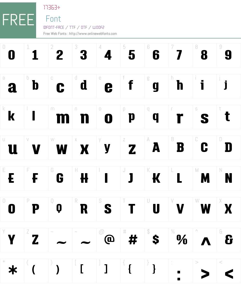 TriumpW01-ExtraBold Font Screenshots
