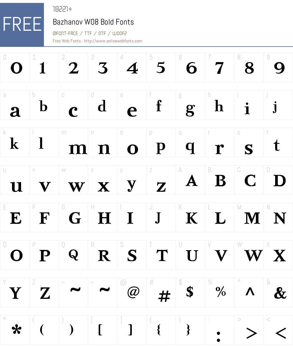 Bardi Font Screenshots