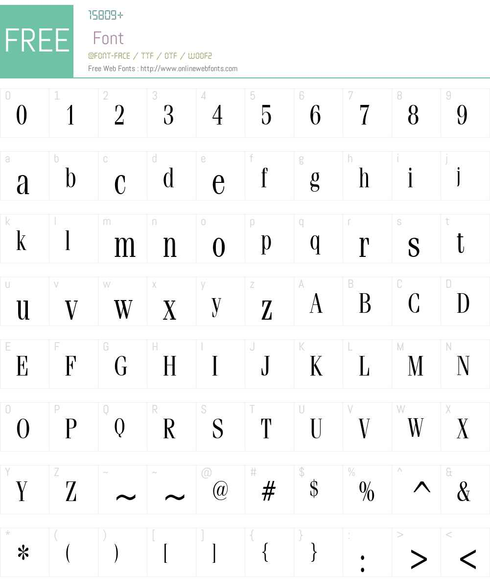 Feline Thin Font Screenshots