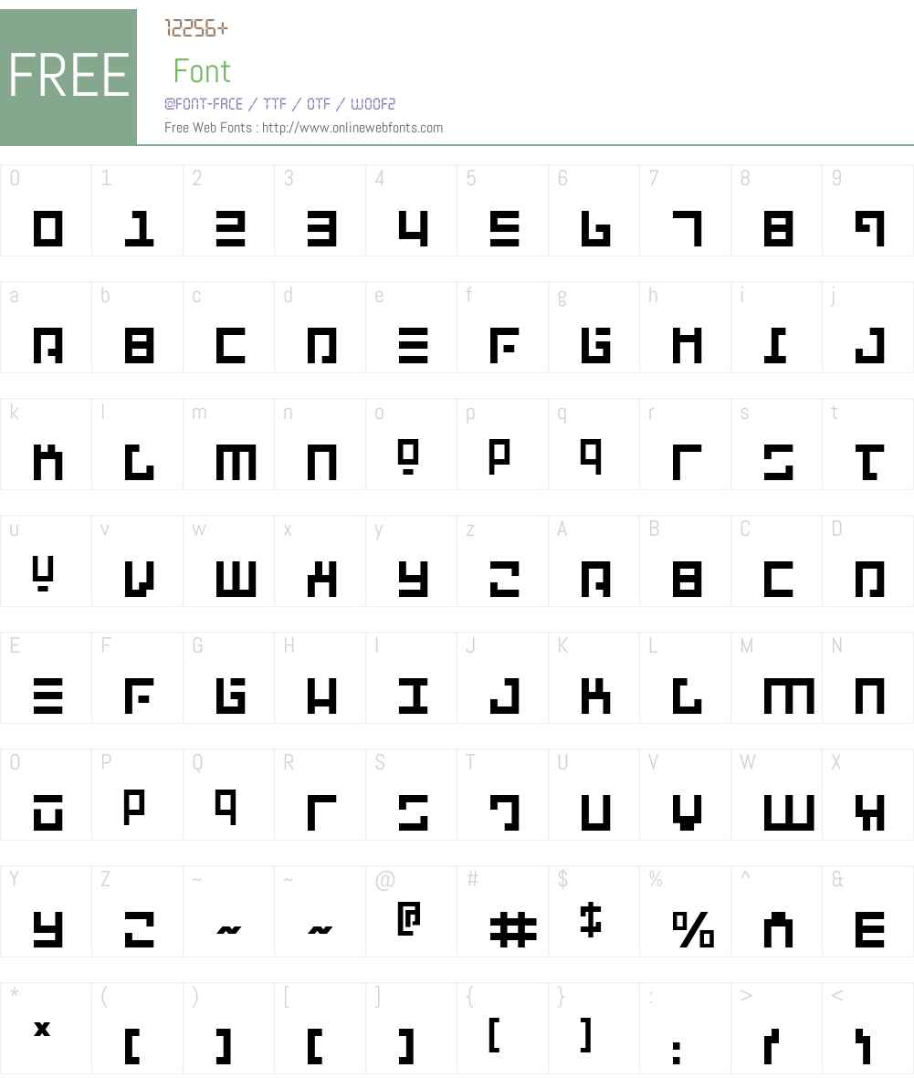 Repulsor Font Screenshots