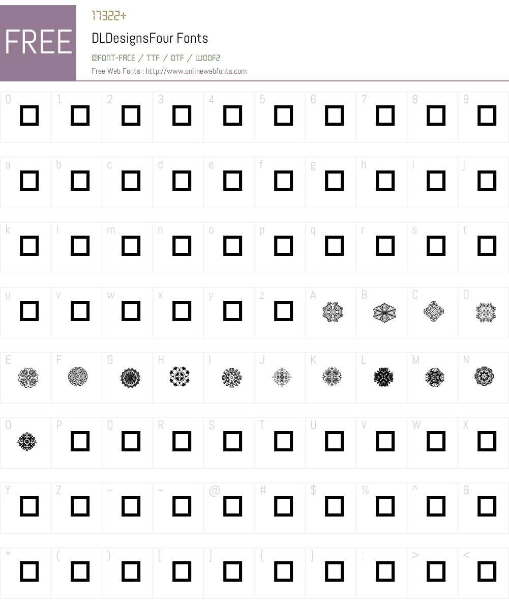 DLDesignsFour Font Screenshots
