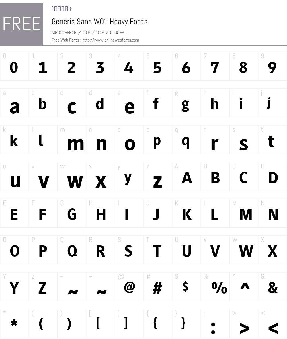 GenerisSansW01-Heavy Font Screenshots