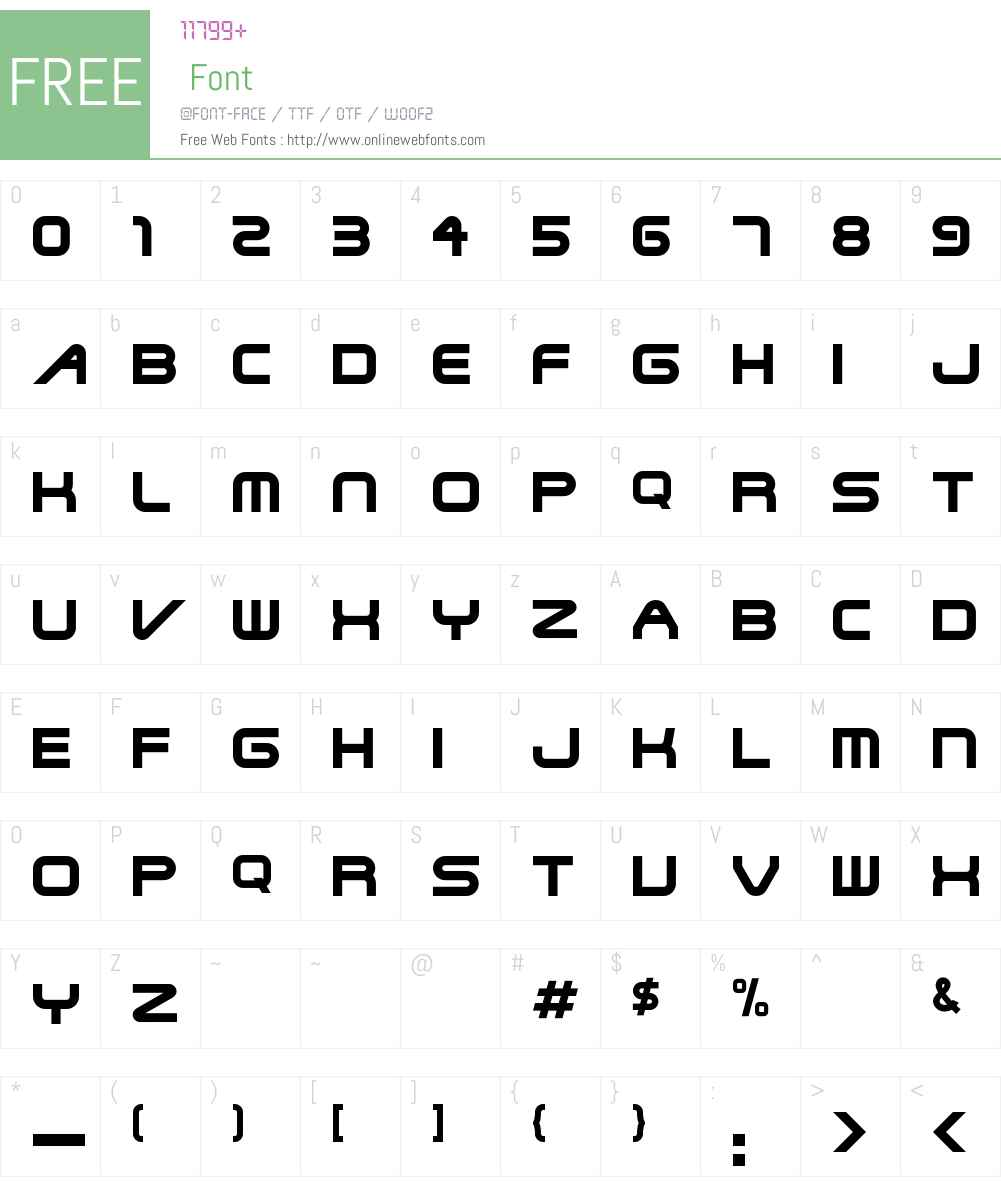 Termtype Font Screenshots