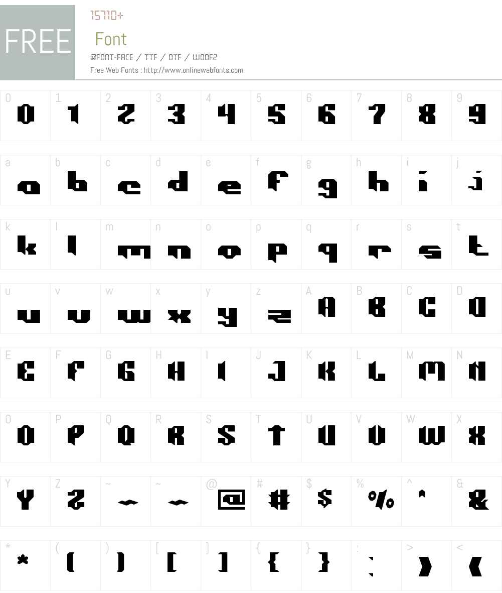 CONSTRUCTION Font Screenshots