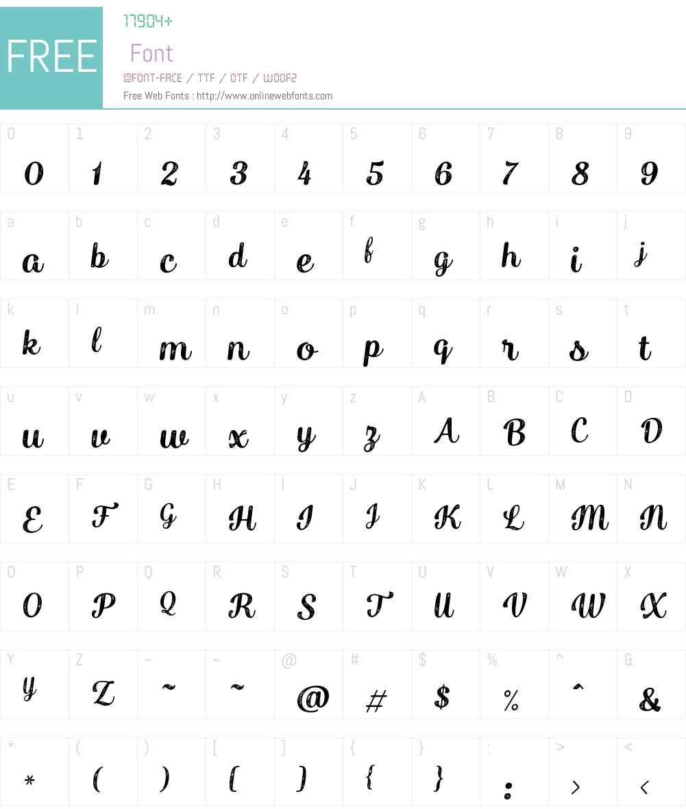 Catsy Printed Font Screenshots