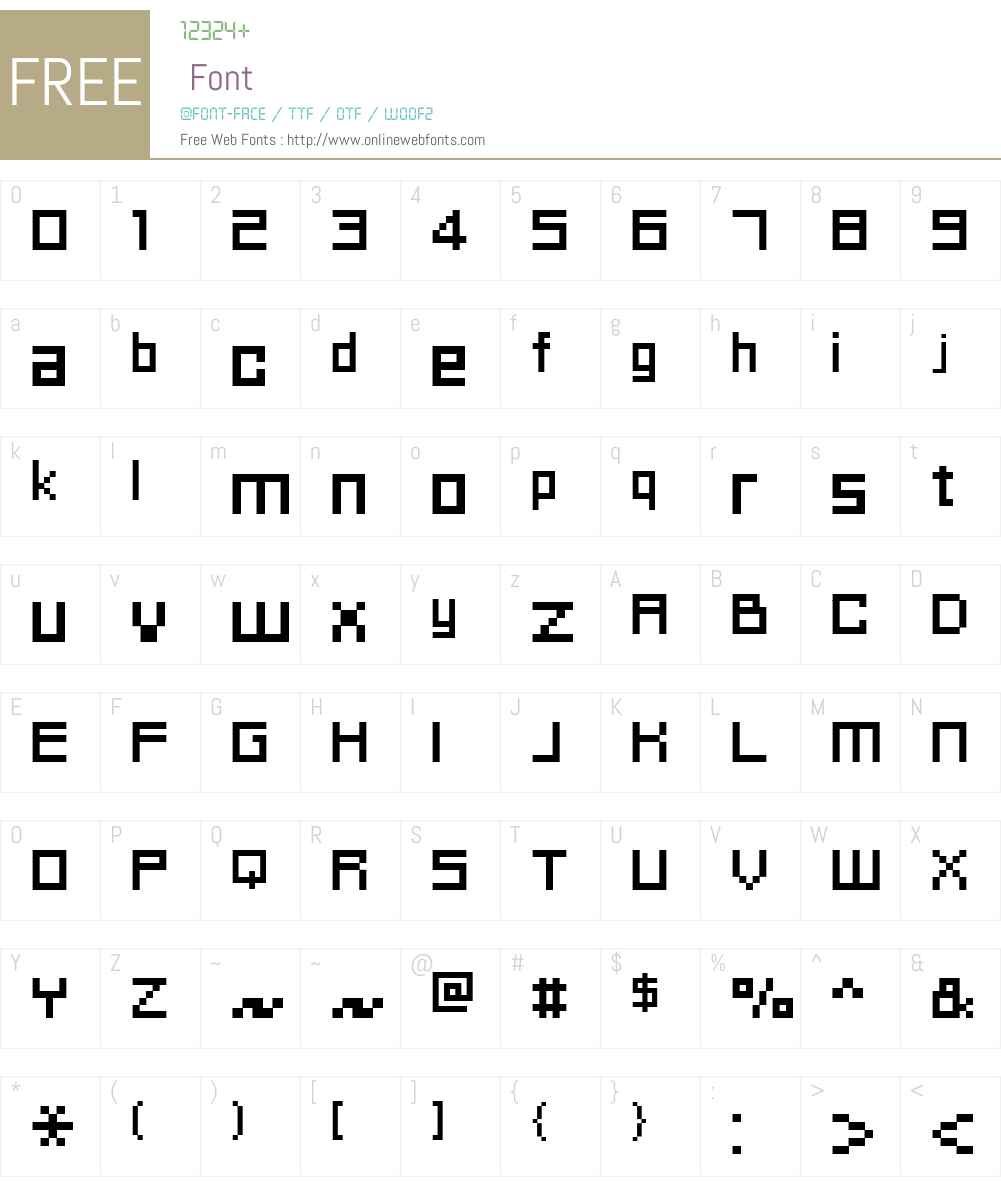 FFF Idea Font Screenshots