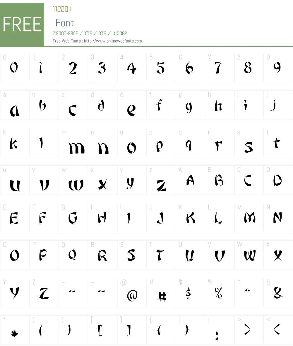 Rickshaw Font Screenshots