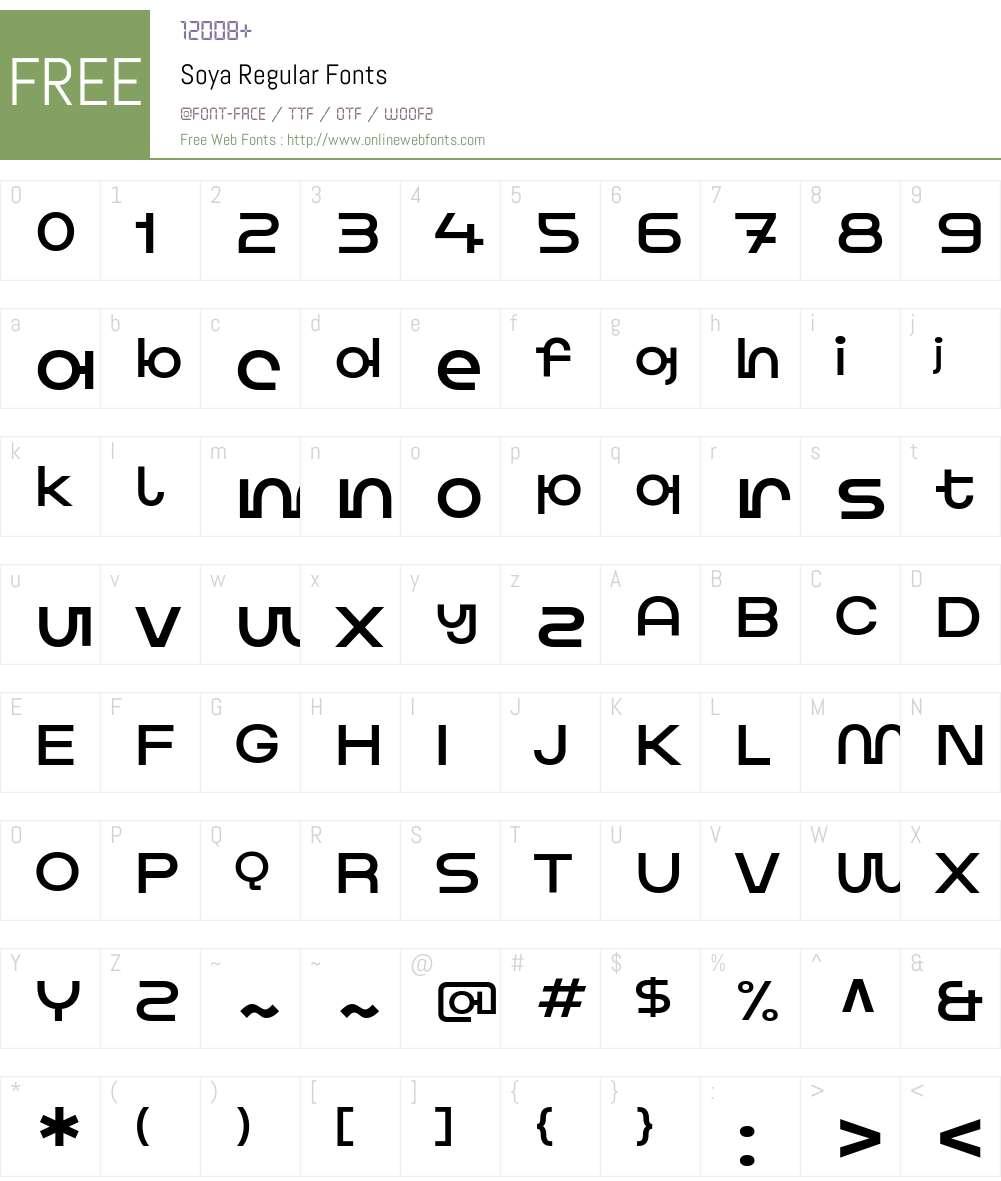 Soya Font Screenshots