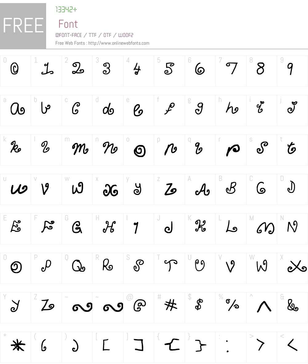 curly Claudia Font Screenshots