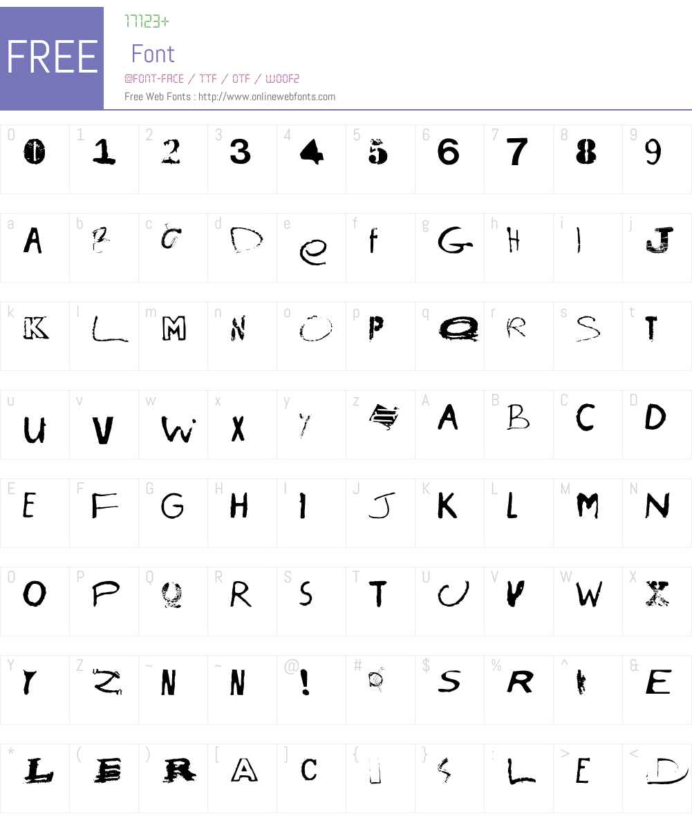 InnerCity Font Screenshots