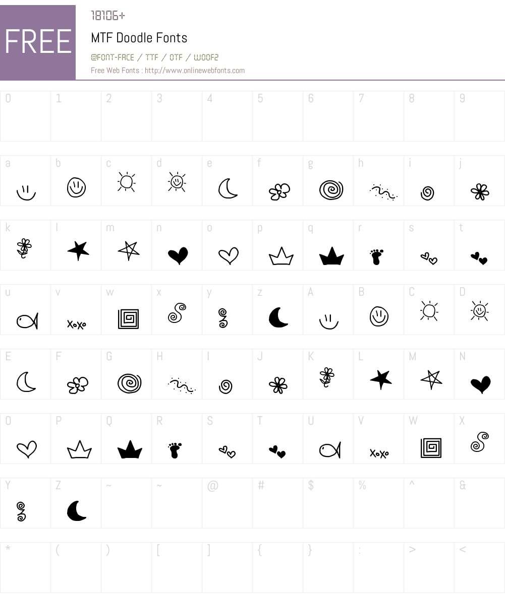MTF Doodle Font Screenshots