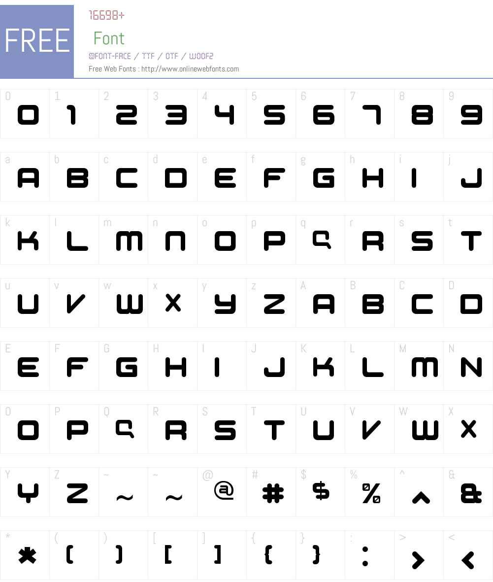 Compaq Supplement Font Screenshots