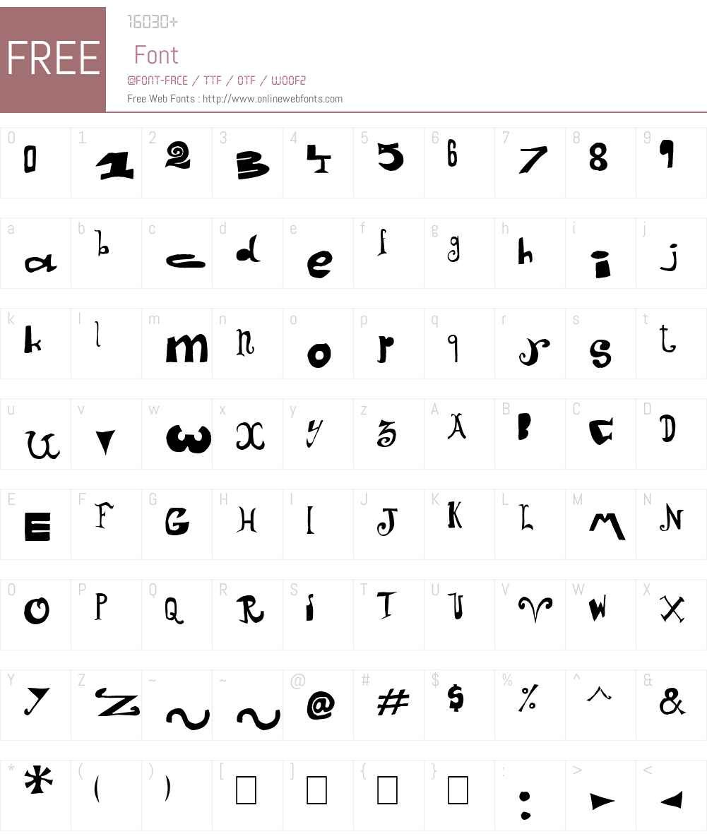 Arlequin Font Screenshots