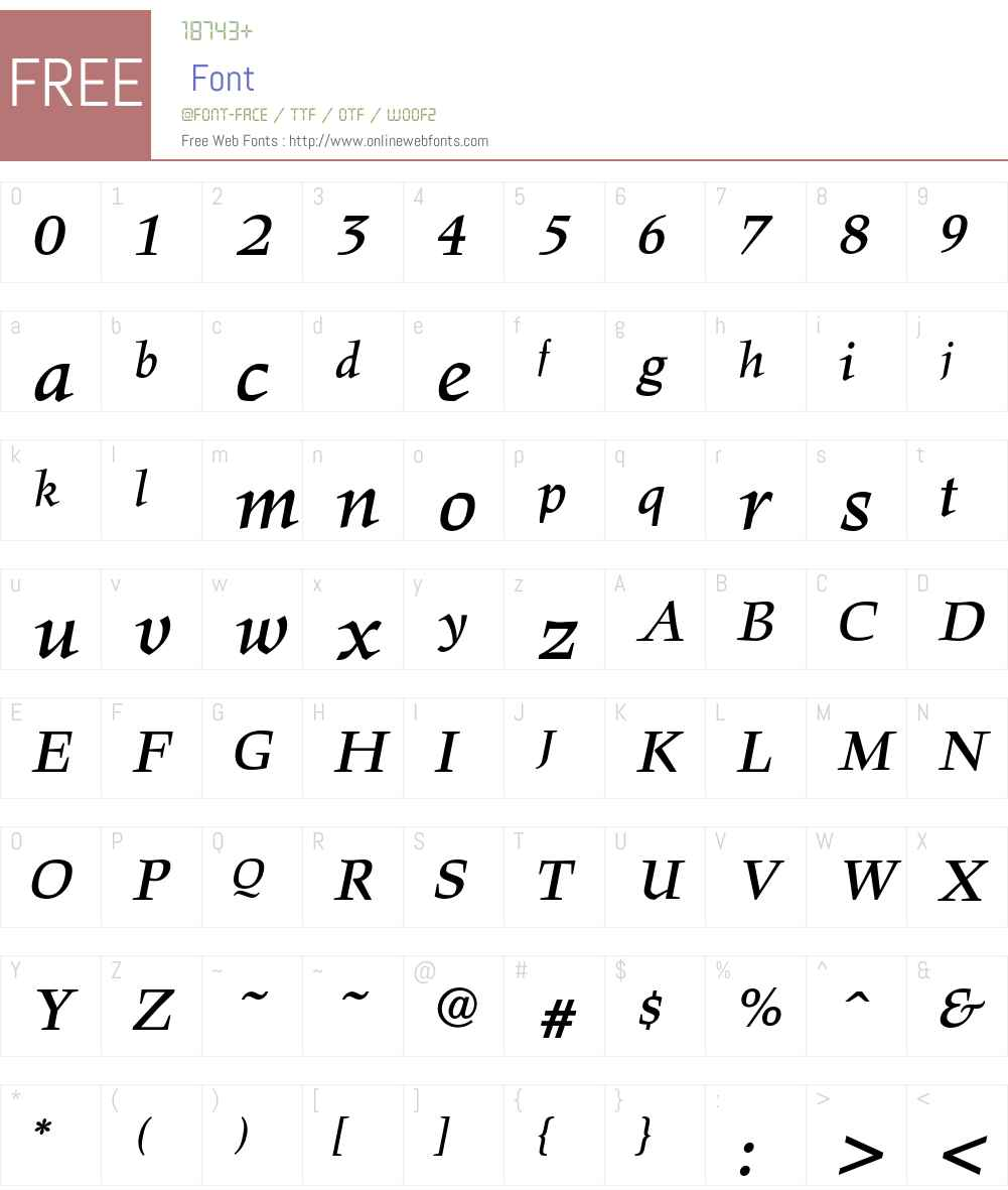 Hawkhurst LT Std Regular Font Screenshots