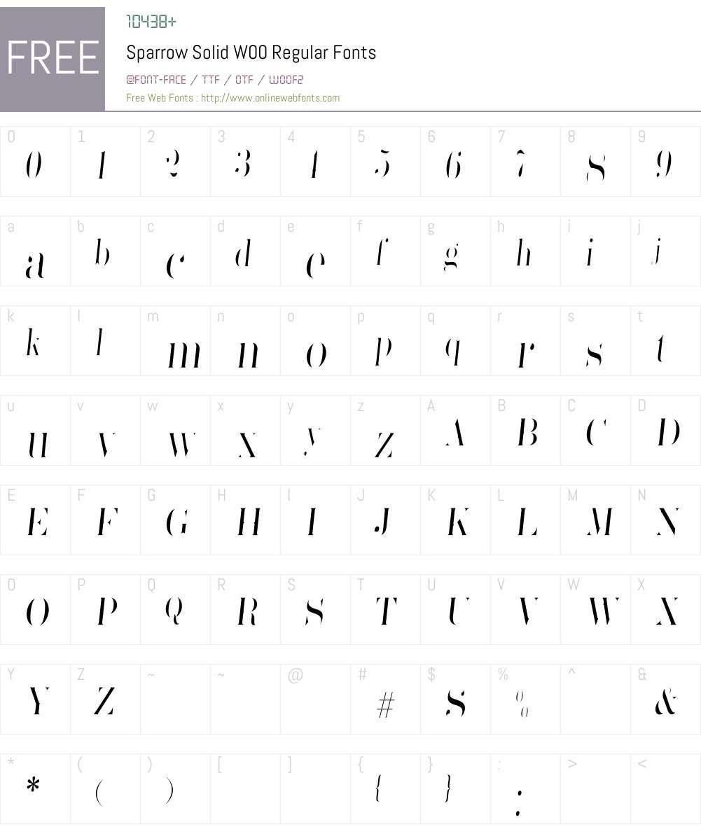 SparrowSolidW00-Regular Font Screenshots