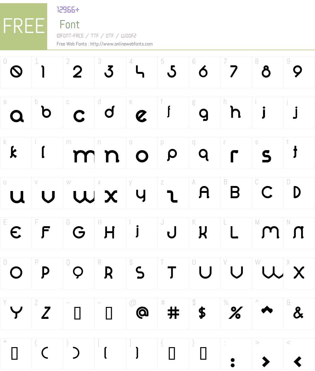 Perolet Font Screenshots
