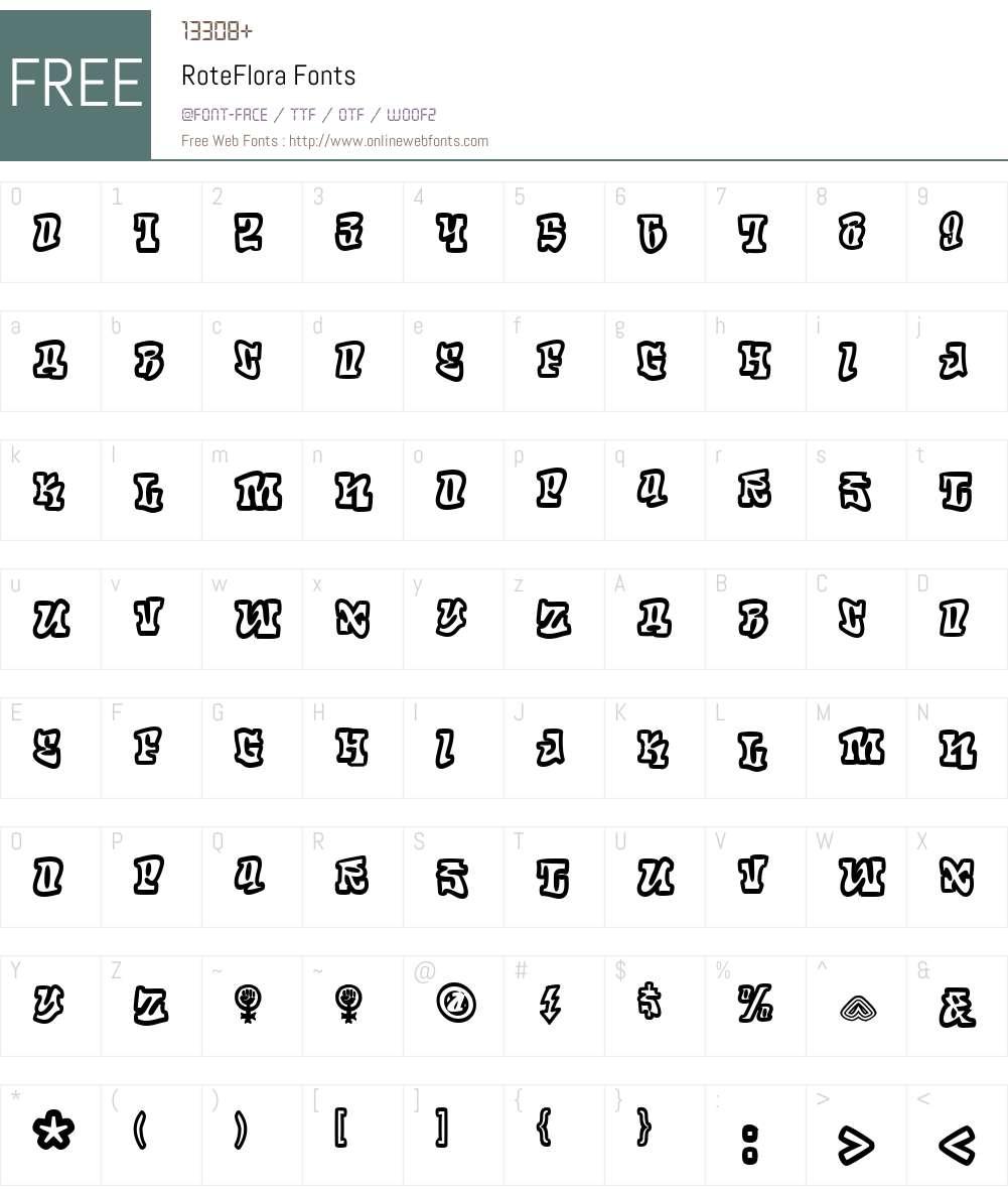 RoteFlora Font Screenshots