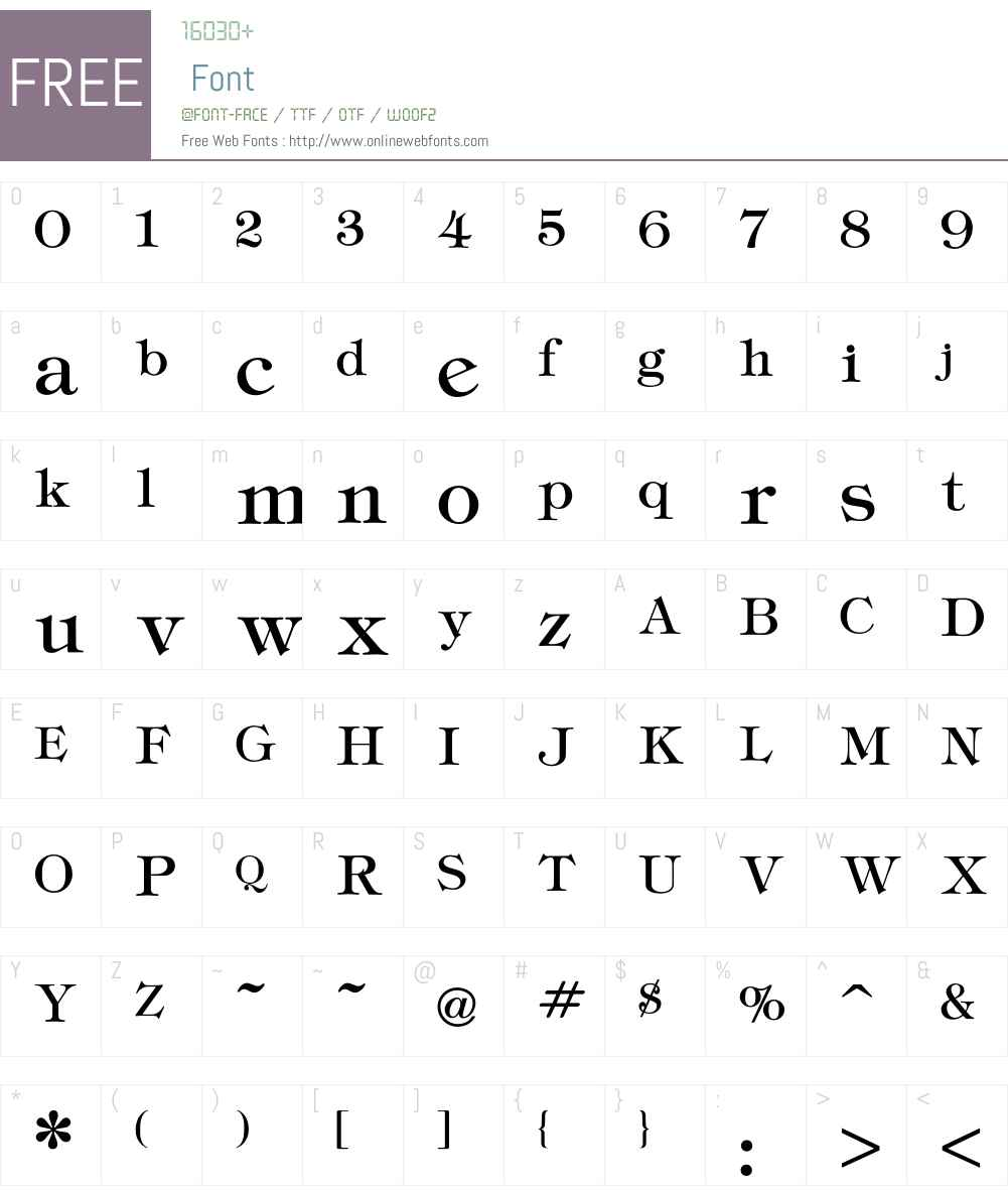 Tiffany Font Screenshots
