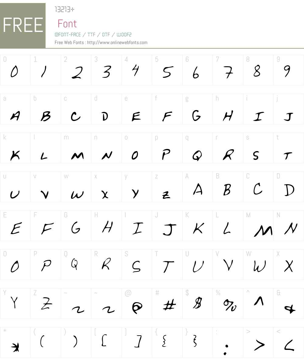 PetersHand Font Screenshots