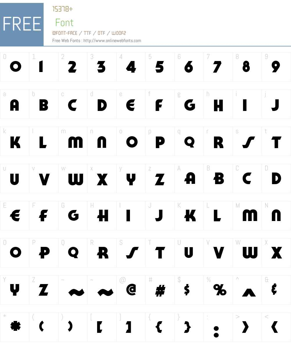 CCManOfTomorrow-Heavy Font Screenshots
