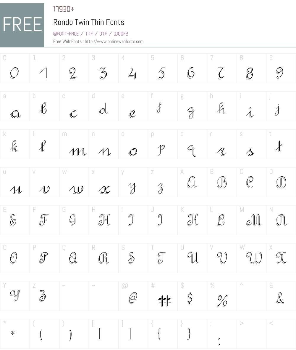Rondo Twin Font Screenshots