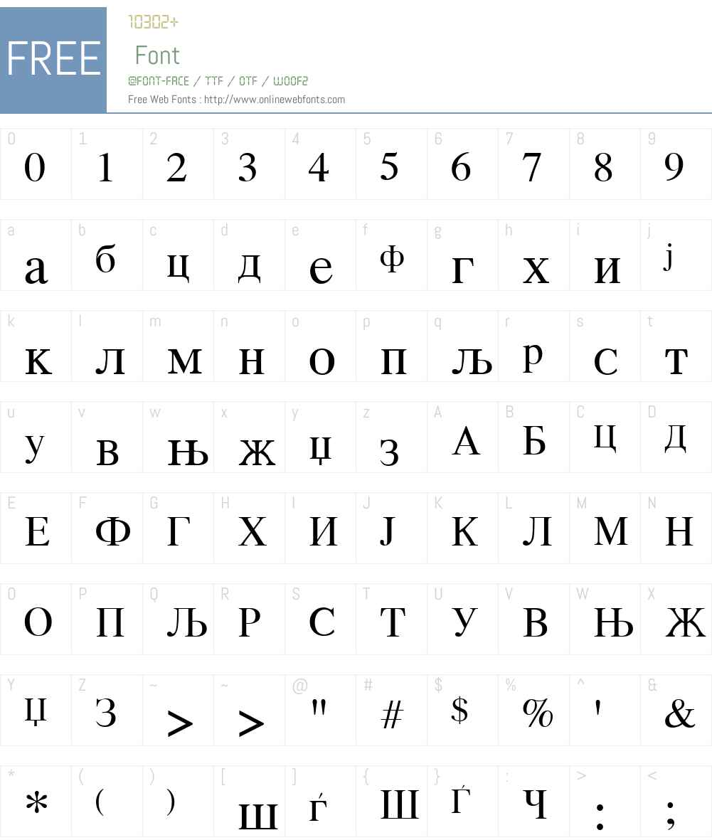 Macedonian Font Screenshots