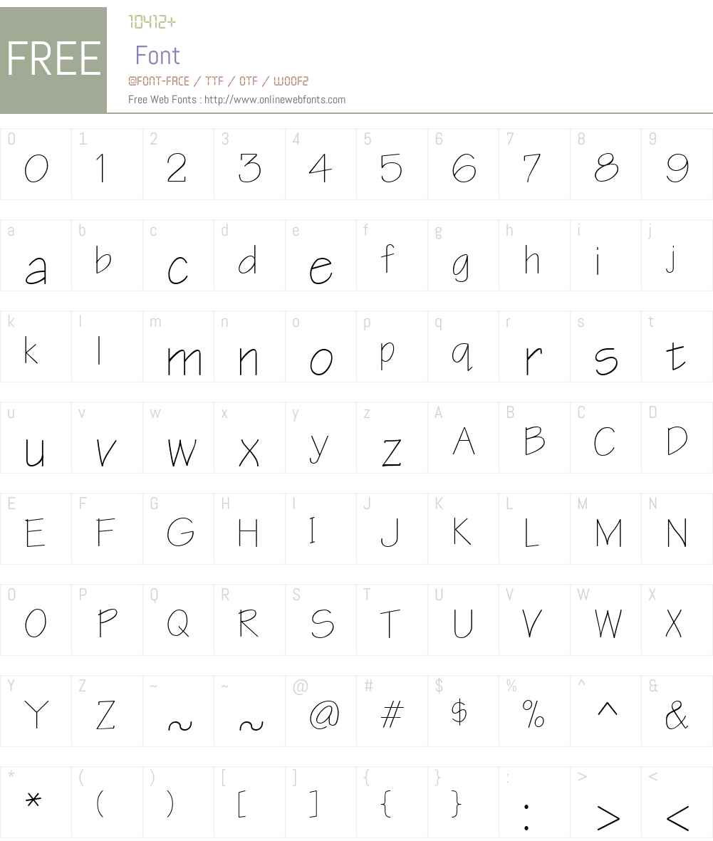 Architect Font Screenshots