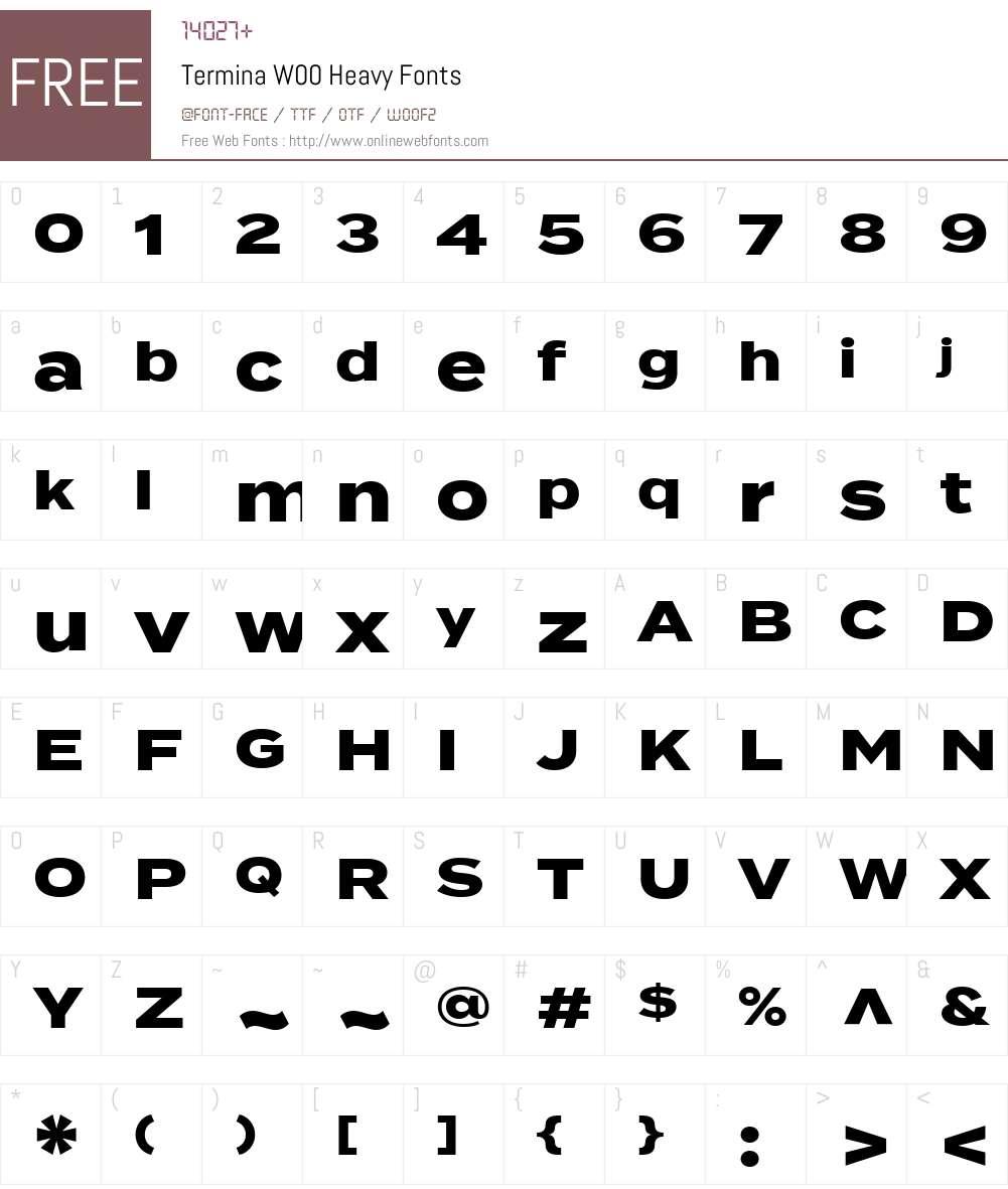 TerminaW00-Heavy Font Screenshots