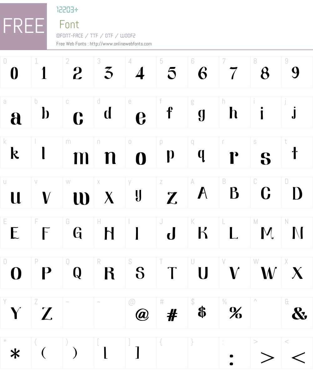 Nearly Dignified Font Screenshots