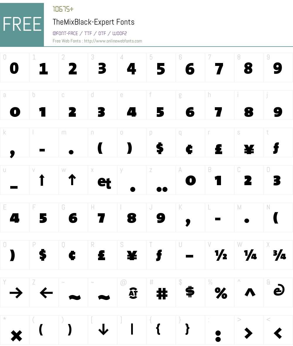 The Mix Black- Font Screenshots