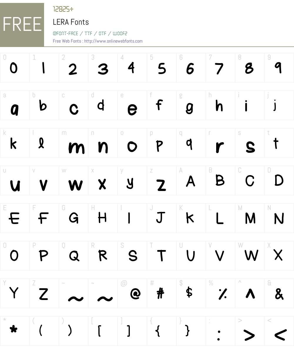 LERA Font Screenshots