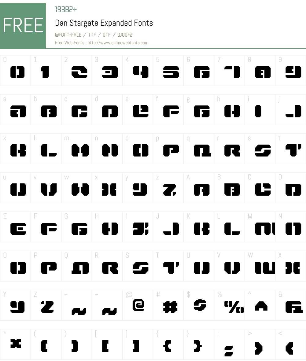 Dan Stargate Expanded Font Screenshots
