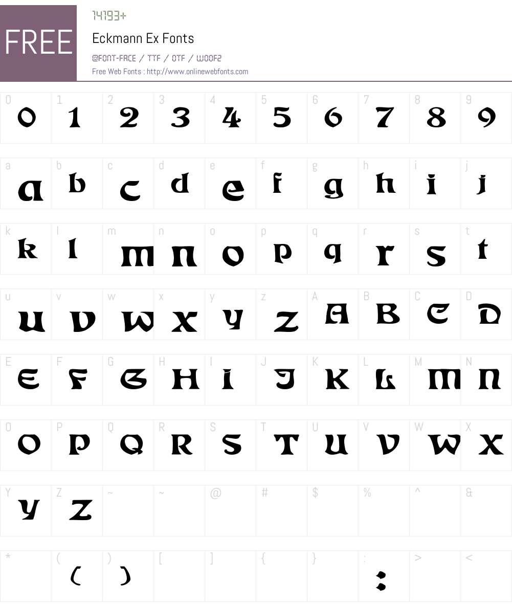 Eckmann Ex Font Screenshots