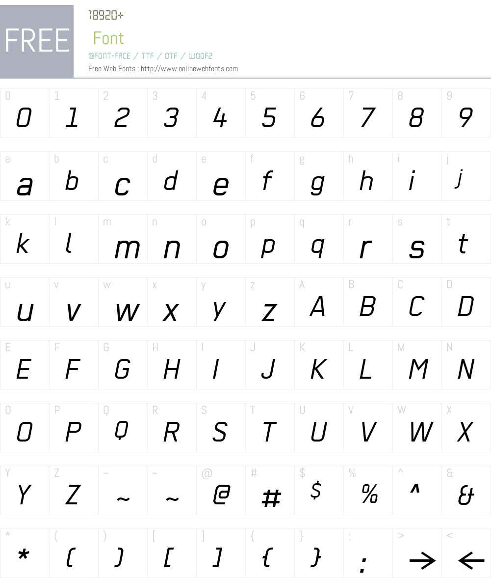 Regular Font Screenshots