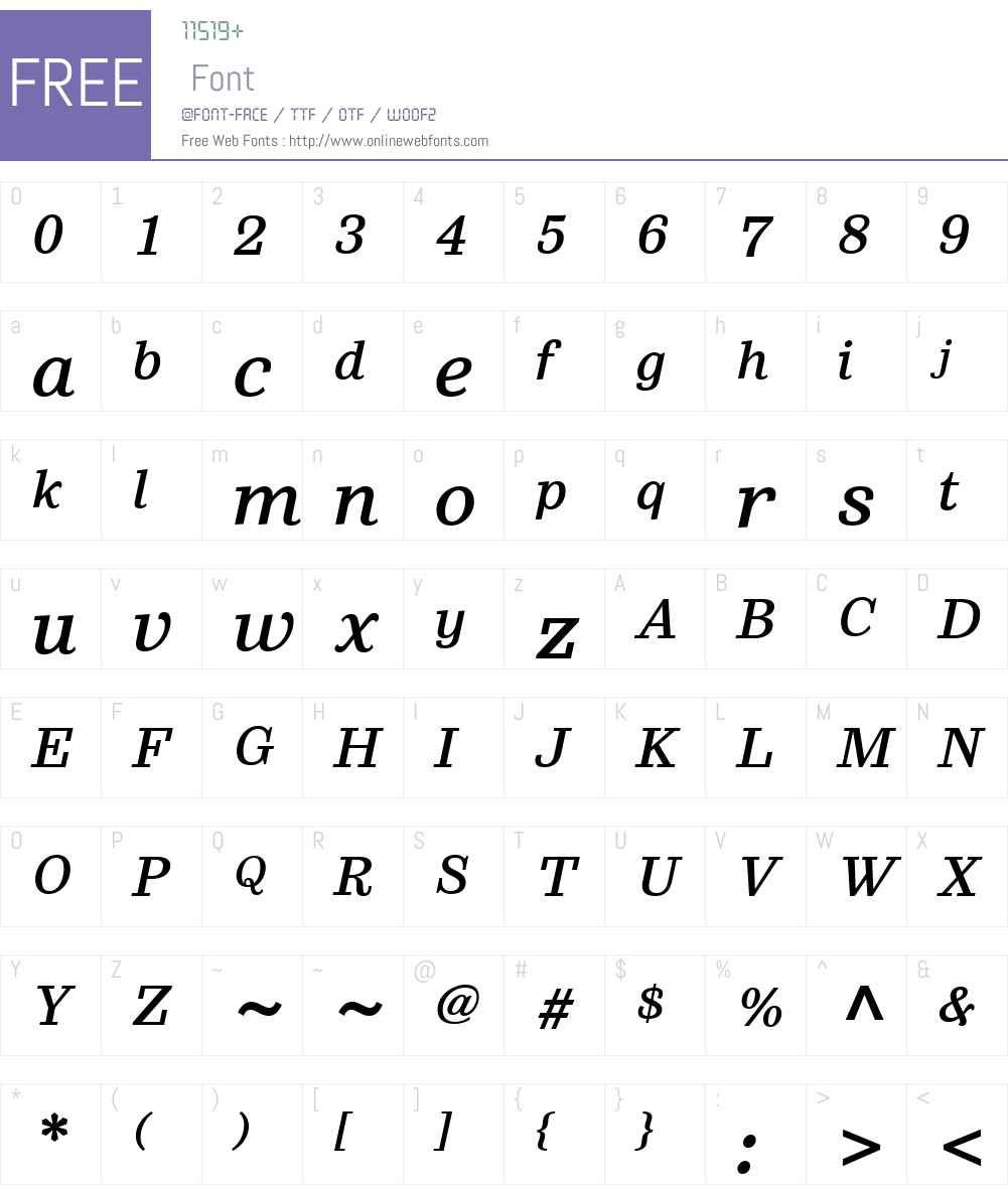 SutroW01-MediumItalic Font Screenshots