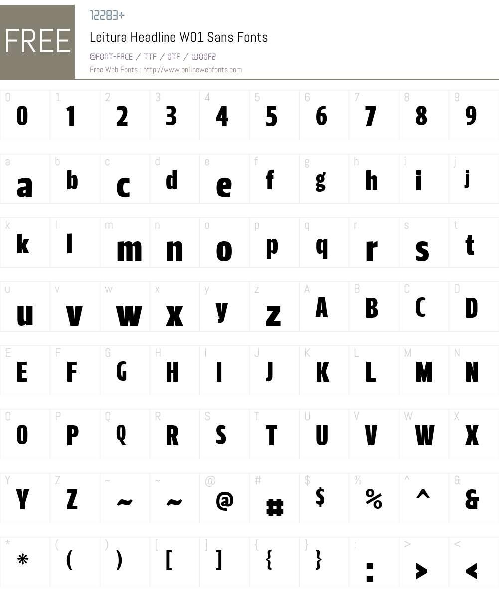 LeituraHeadlineW01-Sans Font Screenshots