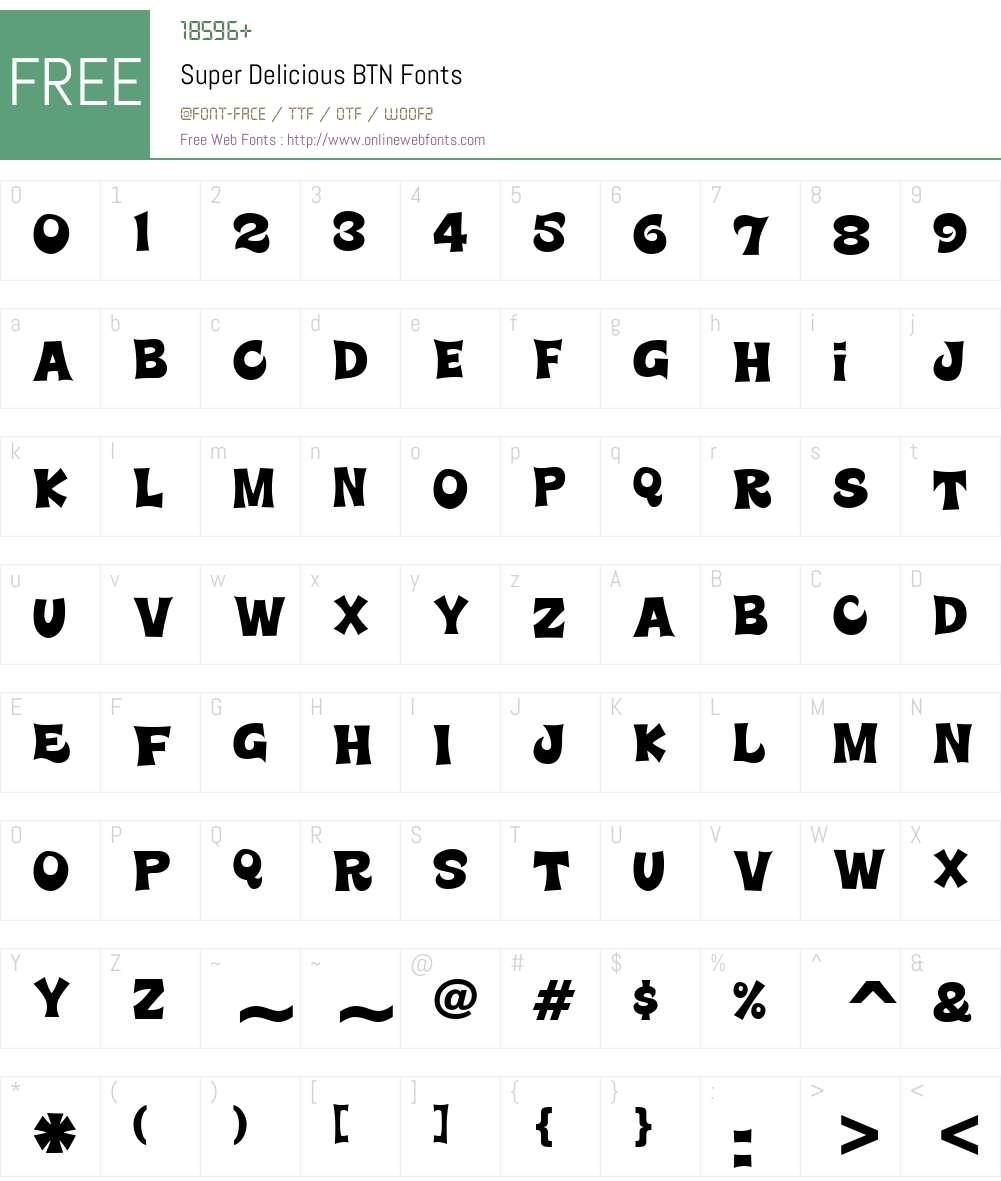 Super Delicious BTN Font Screenshots