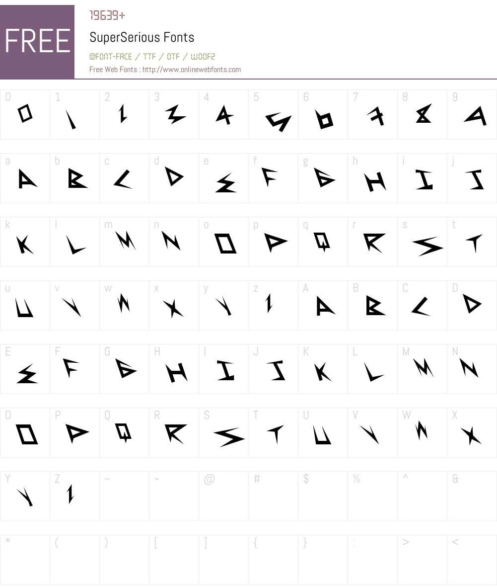 SuperSerious Font Screenshots