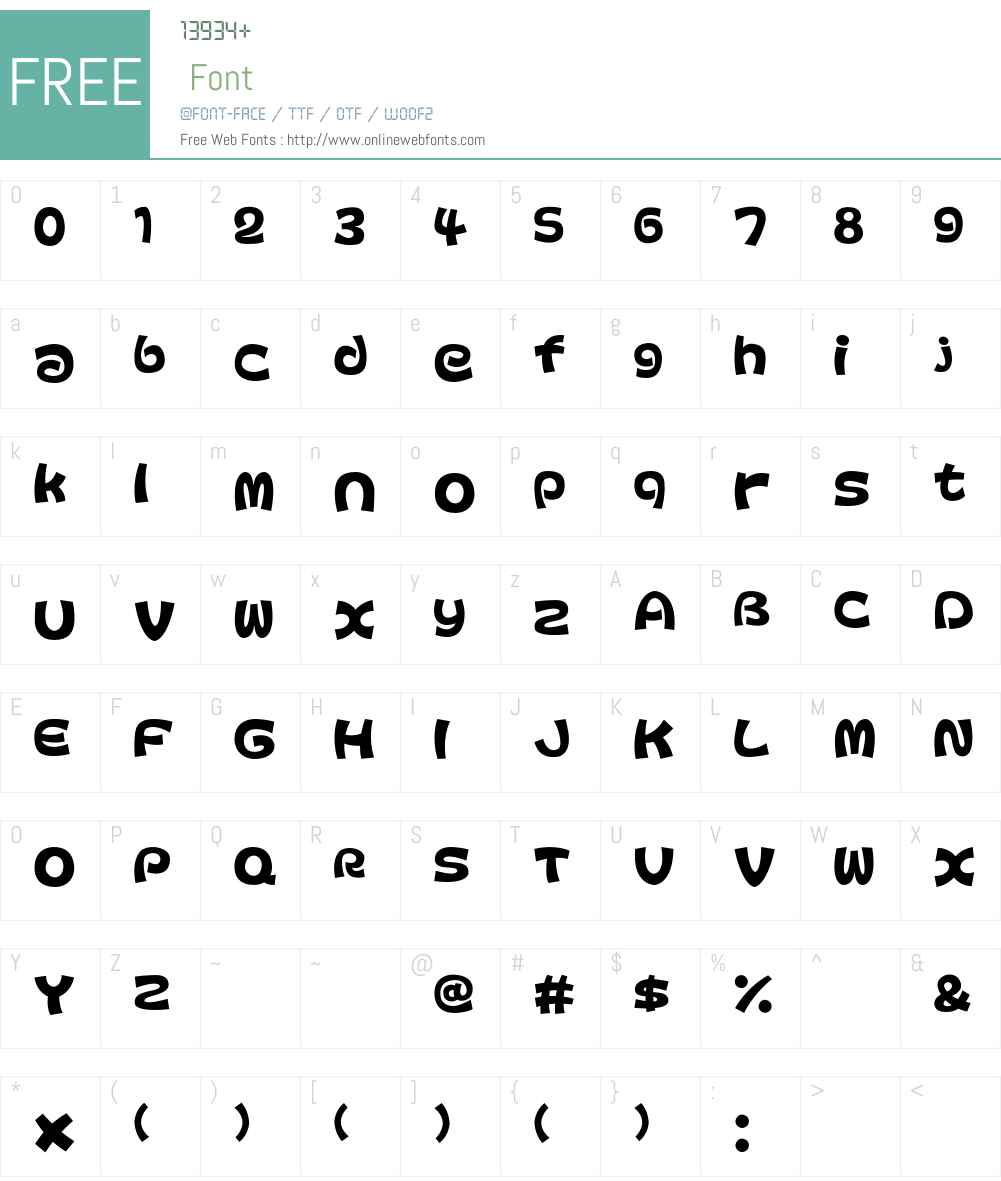 Colopocle Font Screenshots