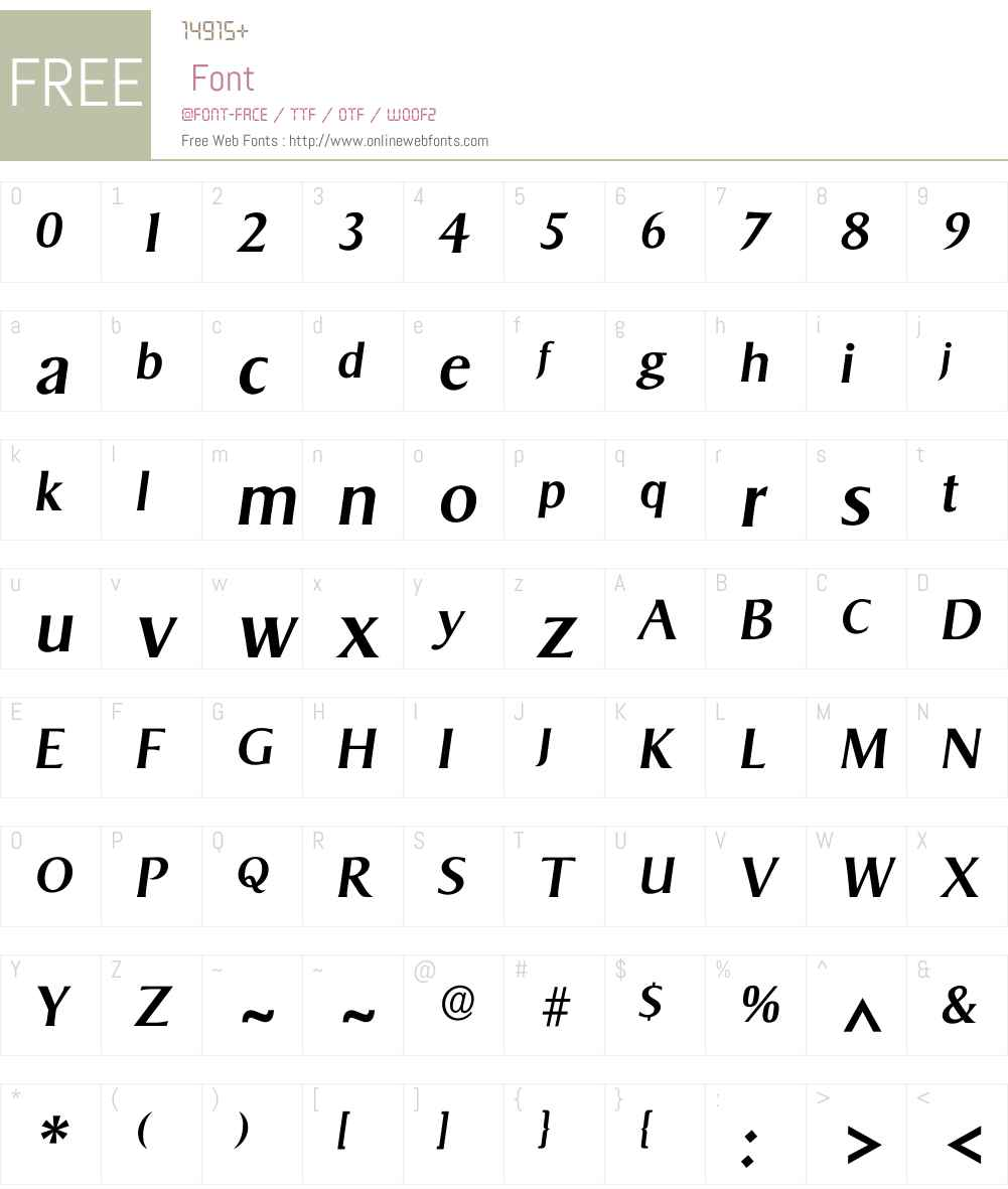 Isigvar Font Screenshots