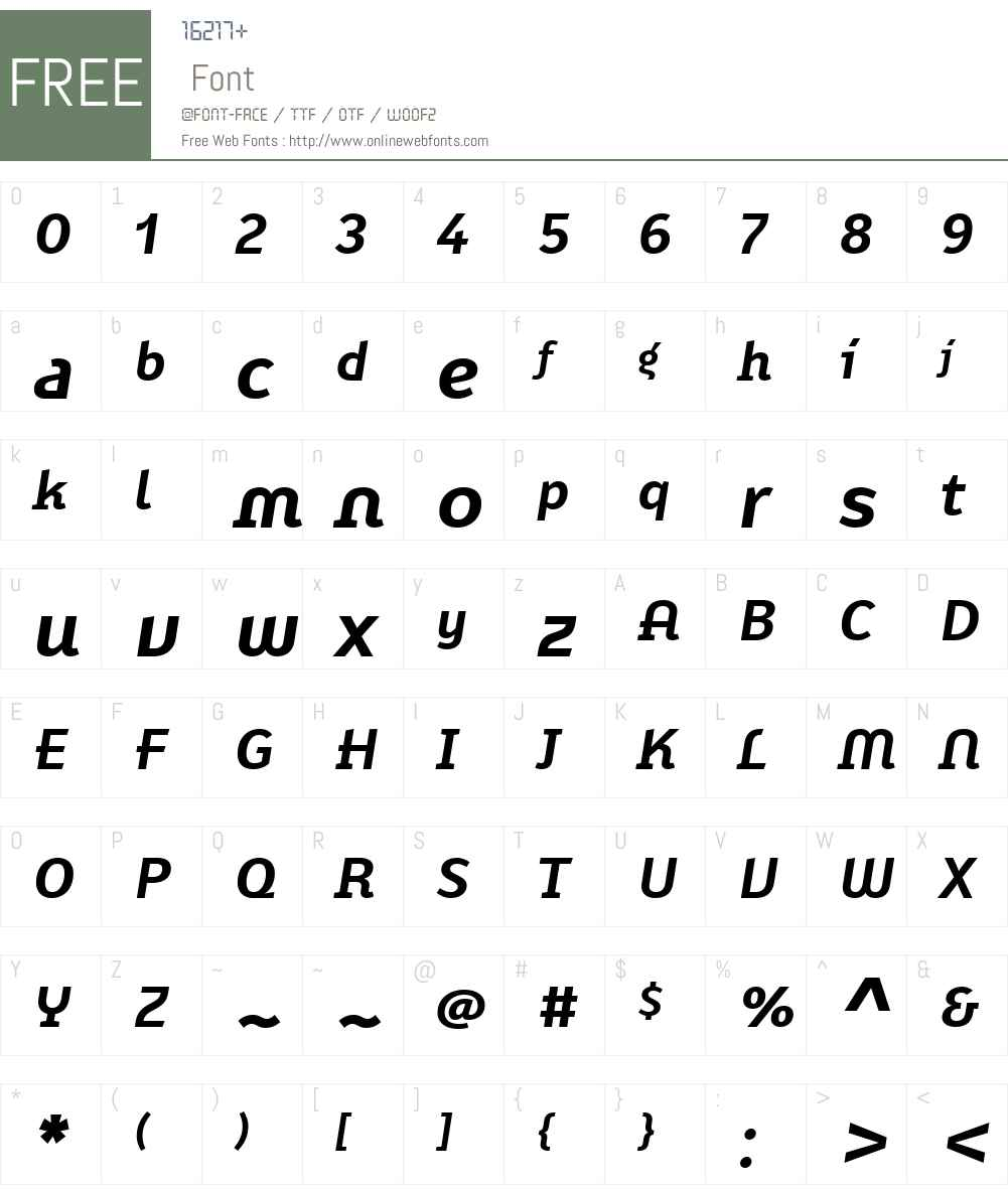 FF Karbid Display Font Screenshots