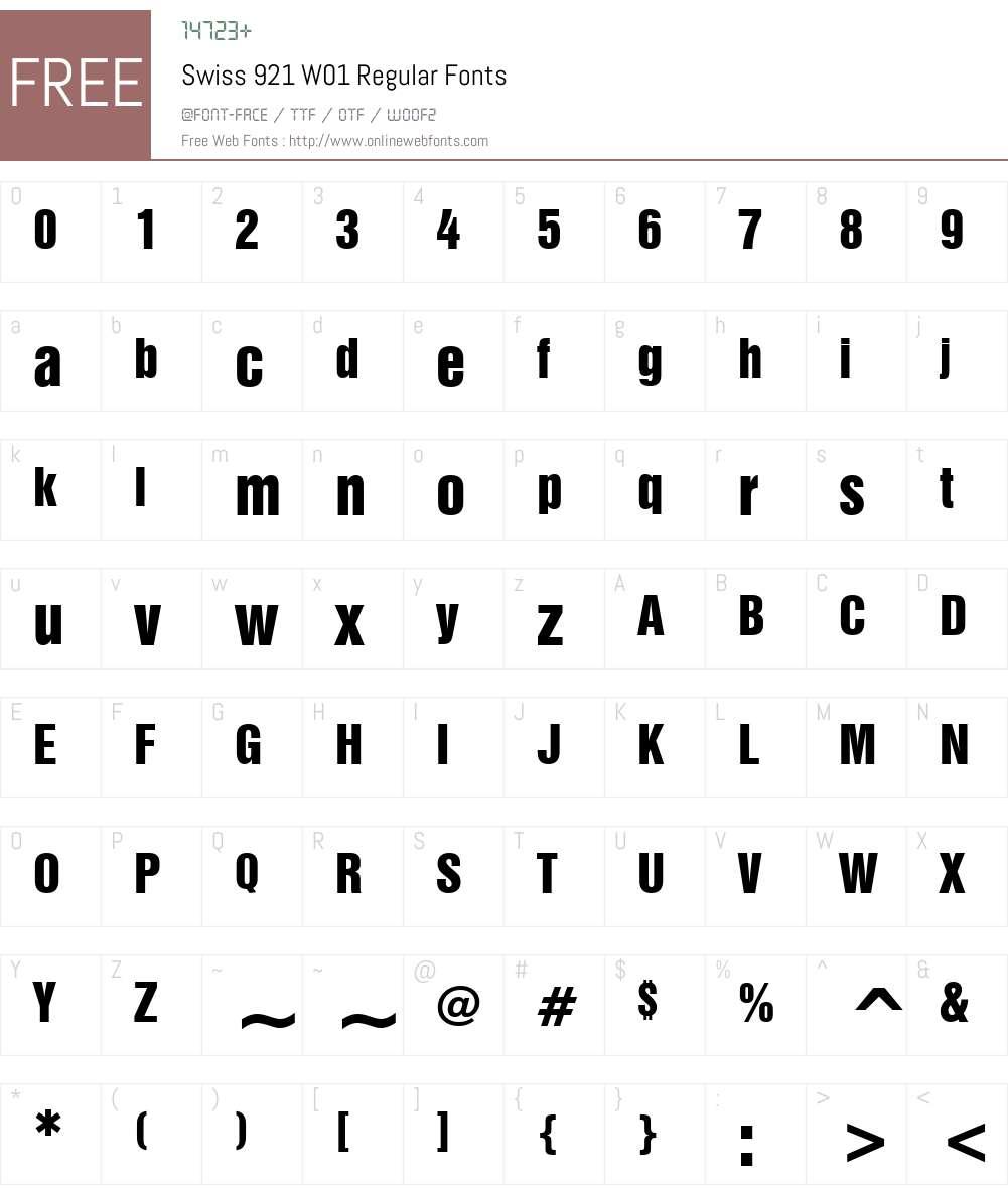 Swiss921W01-Regular Font Screenshots