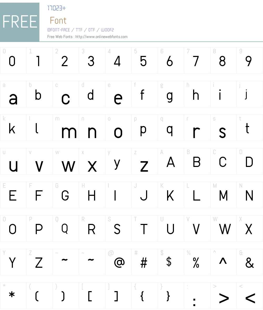 Uniqlo Pro Light Font Screenshots