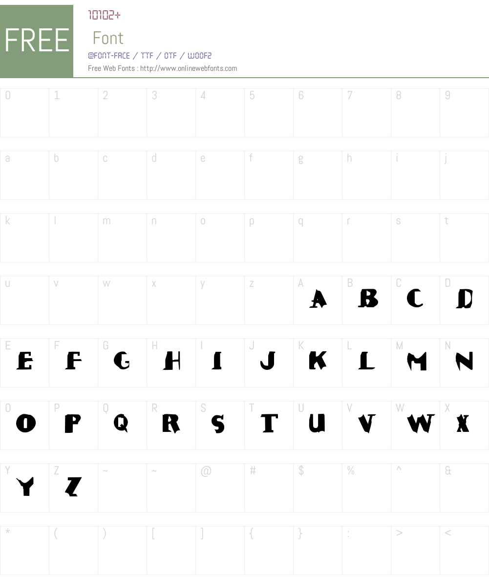 ROUGHAGE Font Screenshots