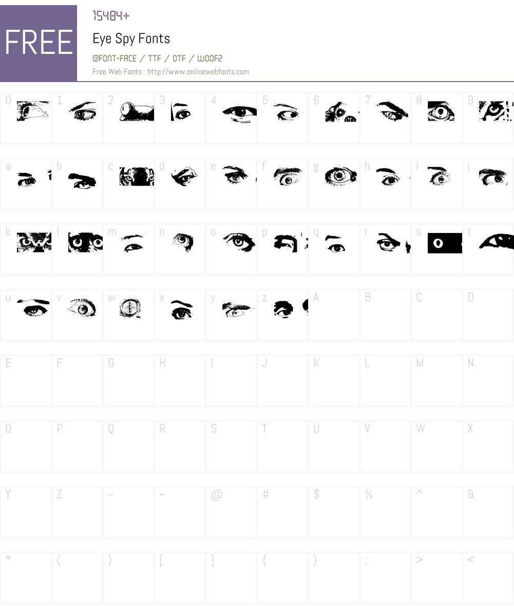 Eye Spy Font Screenshots