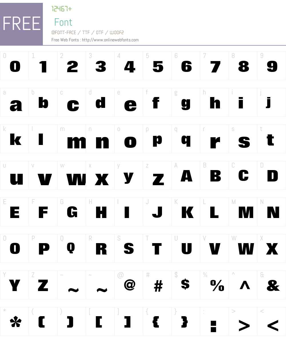 Folio Std Font Screenshots